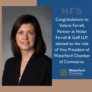 Valerie Farrell elected as Vice President of Waterford Chamber